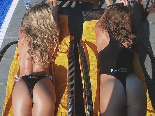 Imagen Trio putos culos de dos Pornhub en la piscina