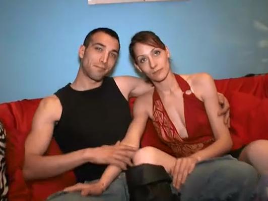 Imagen pareja en paro haciendo video porno por dinero