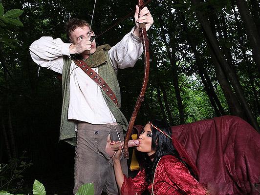 Imagen Robin Hood Rompiendo el culo a la Señora Marian con su flecha grande y duro de la carne