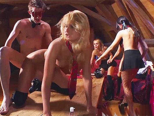 Imagen partido anal privado con tres colegialas calientes