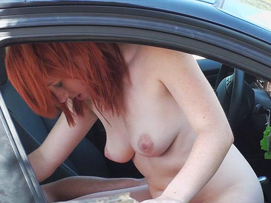 Imagen puta joven pareja en el coche atrapado in fraganti por un voyeur