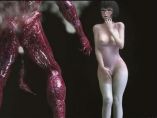 Imagen chica 3D hentai follada por un monstruo extraterrestre