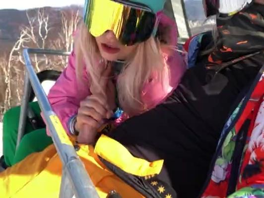 Imagen Mamada en el telesilla de la pista de esquí